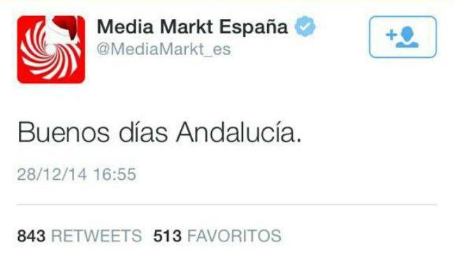 Buenos días andalucia media markt